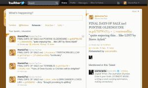 Twitter Page showing Ellis' RT