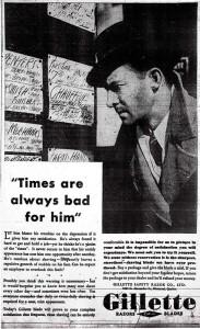 "Spot for Gillette Razors (""Vancouver Sun"", 1932, March 9)"