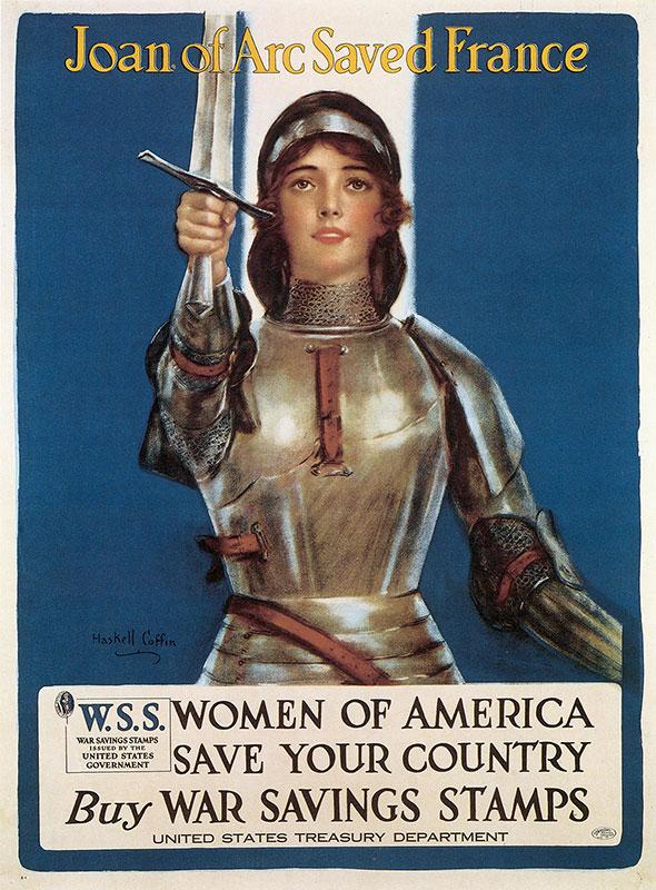 Nationalist Artwork Propaganda-WWI-Joan-War-Bonds