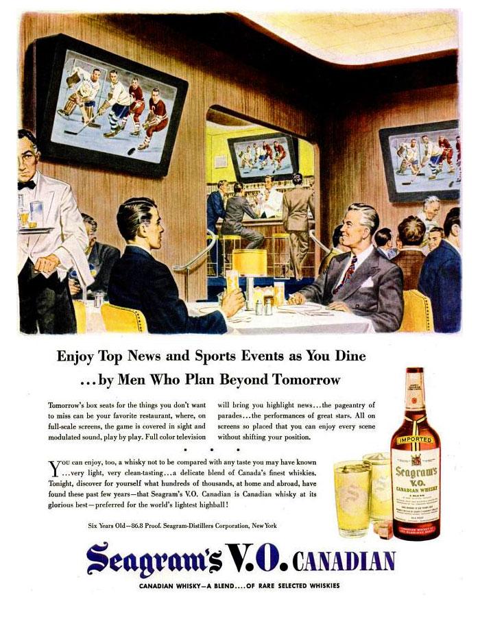 "Seagrams advert, ""Life"", April 15, 1946 (click to enlarge/close)"